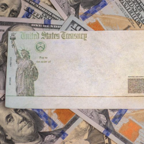 Empty United States Treasury check